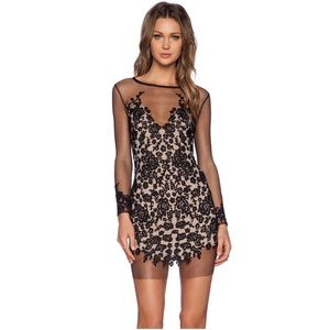 For Love and Lemons black and cream dress